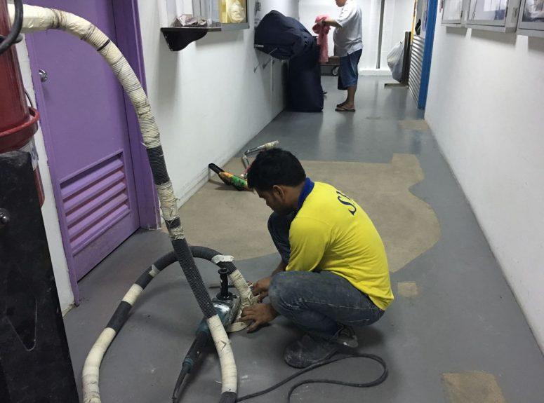250916 epoxy floor works Good evening night work at Jen hotel (3)