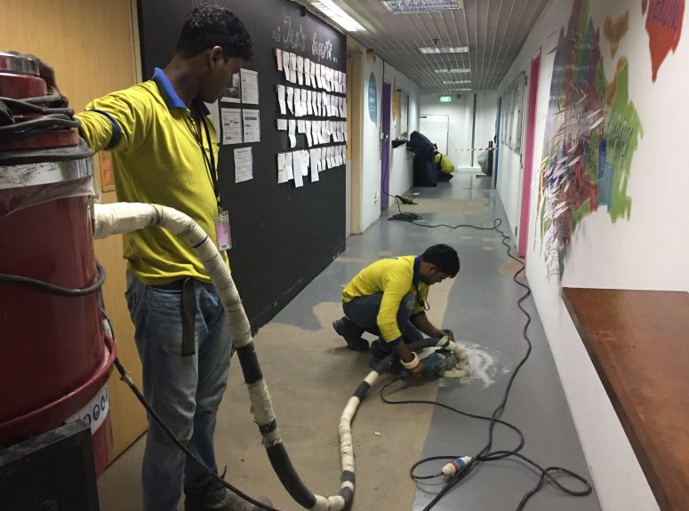 250916 epoxy floor works Good evening night work at Jen hotel (9)